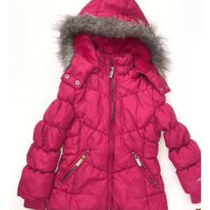 LondonFog Puffer Coat Girls S/4 Ruby Fleece Lined